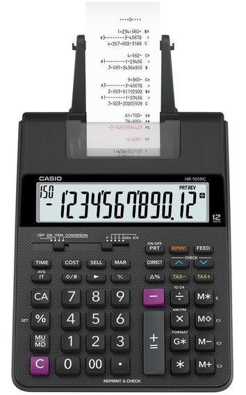 Calculadora 12 Digidos Casio Hr-100rc-bk