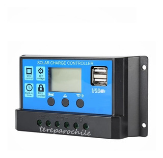 Controlador Carga Panel Solar Universal 10a Usb Lcd 12v 24v