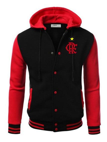 Flamengo Casaco Blusa Jaqueta Bordado College Americana !