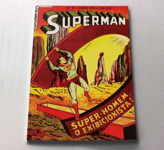 Superman N° 92 - O Exibicionista - Ebal - 1955 - Facsimile