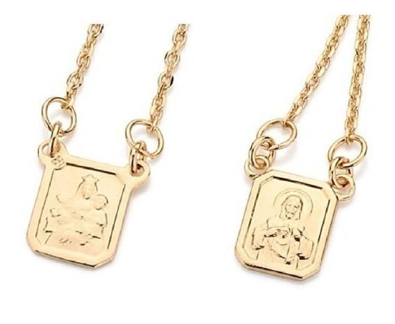 Escapulário Rommanel Medalha Coração Jesus Sra Carmo 531222