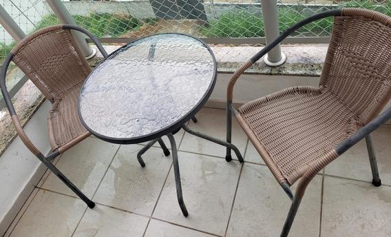 Conjunto Mesa E 2 Cadeiras