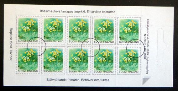 Finlandia Flora, Carnet Sc. 845 X 10 1998 Usado L7850