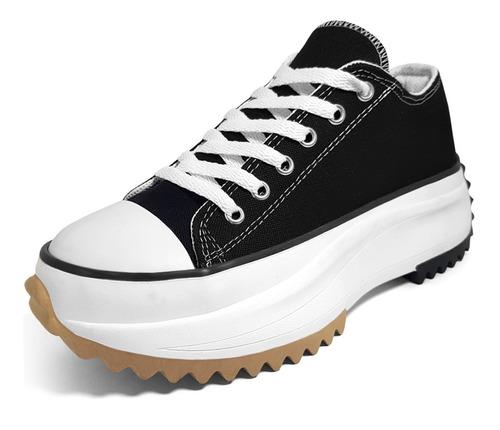 Imagen 1 de 4 de Zapatillas Mujer Plataforma Lona Star Colores Sneaker Cuotas