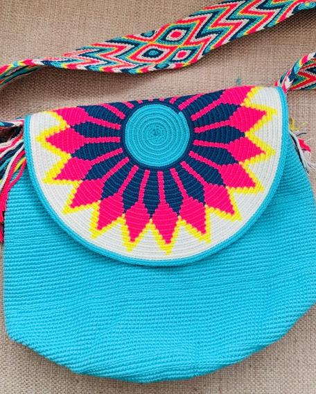 Bolsa Wayuu Com Tampa Original Colômbia