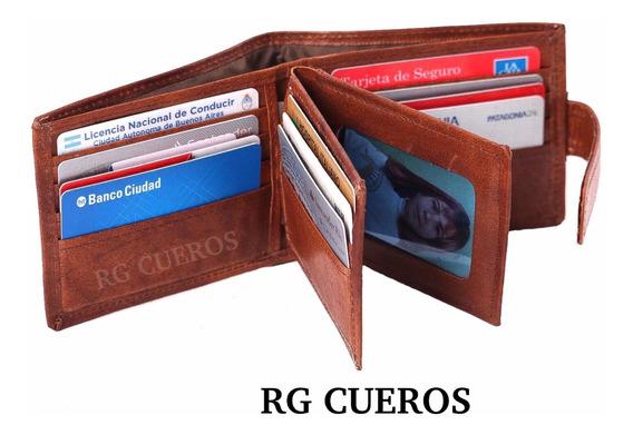 Billetera Art. 151/153 - Cuero Vacuno - Hombre - Rg Cueros