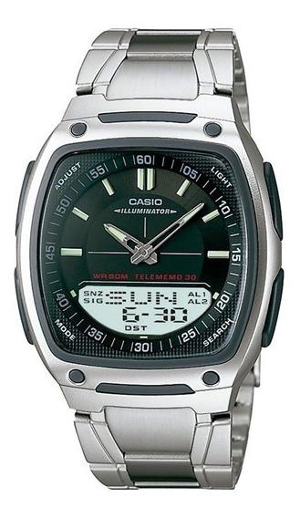 Relógio Casio Masculino Prata Anadigi Aw-81d-1avdf