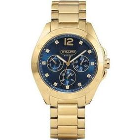Relógio Coach Aço Dourado Feminino 100% Original. Importado