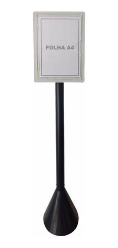 Display Pedestal Para Folha A4 - Identificação De Área