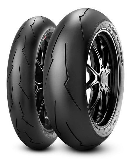 Par Pneu Pirelli Super Corsa 120/70 Sc1 / 200/55 Scx