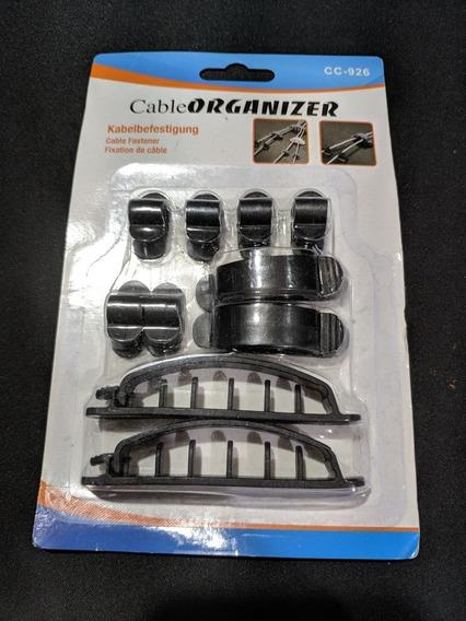 Kit 10 Organizadores De Cabos Para Mesa Gamer Ou Workstation