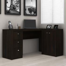 Mesa Para Escritório Tecno Mobili Me-4100 3 Gavetas 2 Portas