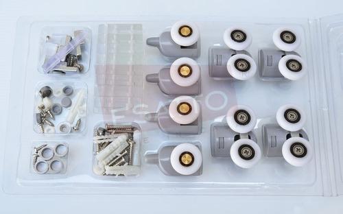 Imagen 1 de 5 de Esatto® Set Carretillas Rodamientos Cancel Baño 2 Pta He-001