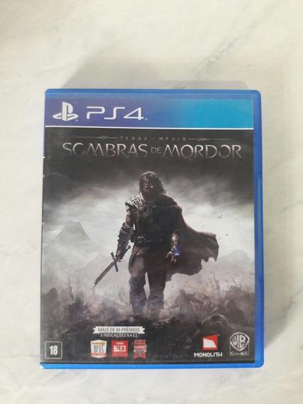 Jogo Ps4 Sombras De Mordor Midia Fisica
