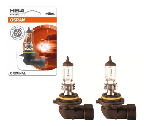 Par 2 Lampada Comum Hb4 12v 51w 9006 Halogena Original Osram