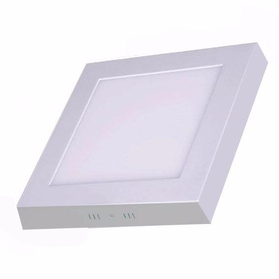 Plafon Luminária Painel Led Quadrado Sobrepor Ultra Slim 18w