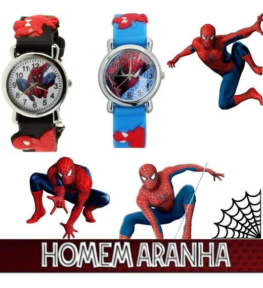 Relógio Infantil Super Herói Homem Aranha Spider Man