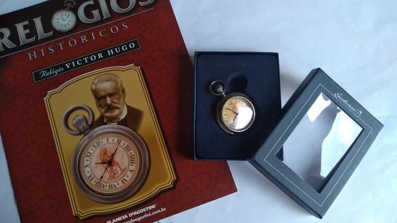 Coleção De Relógio Histórico- Victor Hugo ( Bolso )