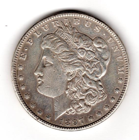 Bkz / Estados Unidos - Morgan Dollar 1897 Plata
