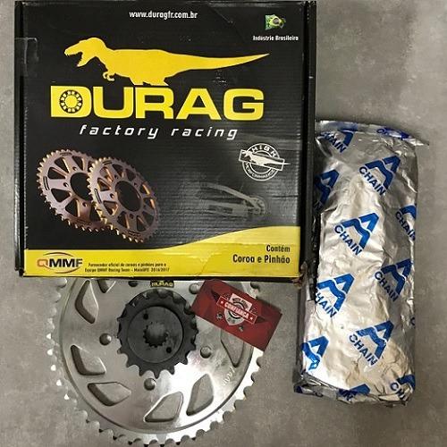 Kit Relação Durag Completo Honda Shadow Vt 600 Durag + Kmc
