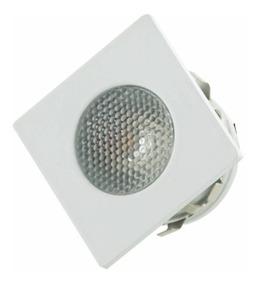 12 Mini Spot Led Quadrado 1w 2700k Luz Amarela Móveis G-ligh