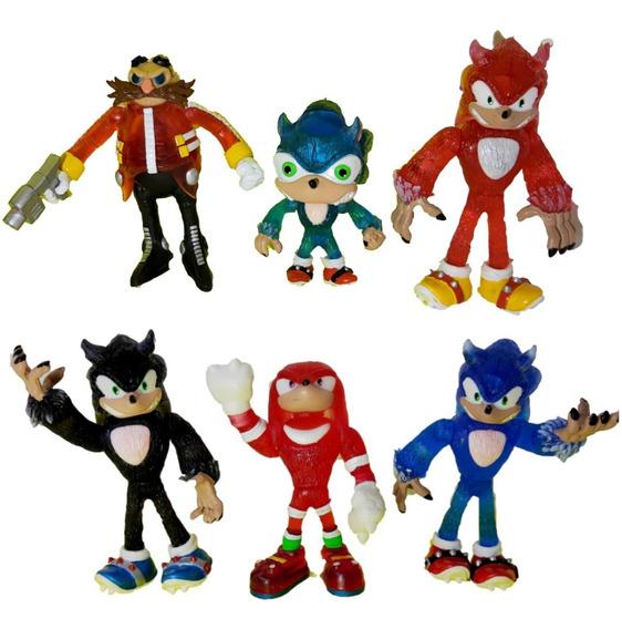 Sonic Hedgehog Colección 6 Piezas Con Luz Articulado