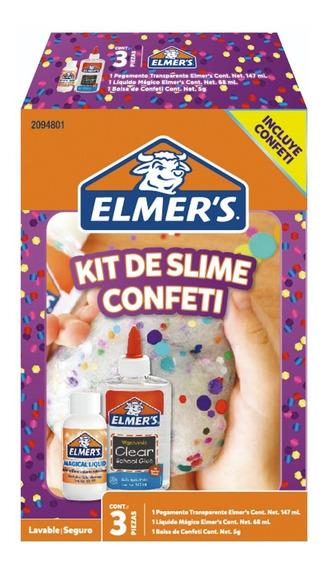 Kit De Slime Confeti Kits Regalo Niños Niñas Elmer