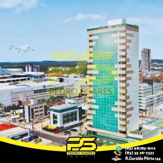 Flat Mobiliado Com 1 Dormitório Para Alugar, 1 M² Por R$ 1.700/mês - Manaíra - João Pessoa/pb - Fl0073