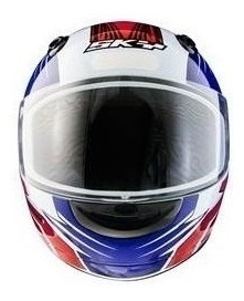 Capacete Motosky Blade - Vermelho C/ Azul Vis. Transparente