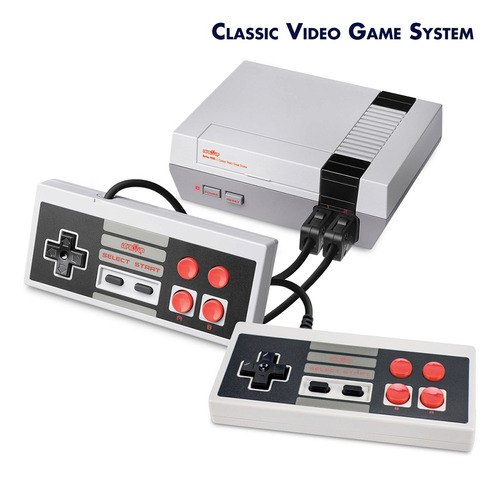 Consola De 8 Bits Retro Nes Av Plug Play Con 500 Juegos