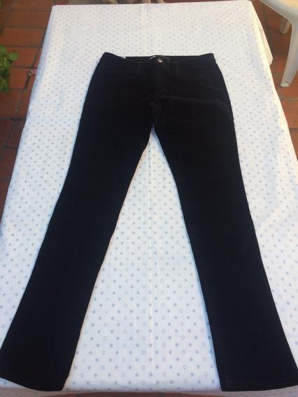 Pantalon Gamuzado Mujer Negro Elastizado Talle 40
