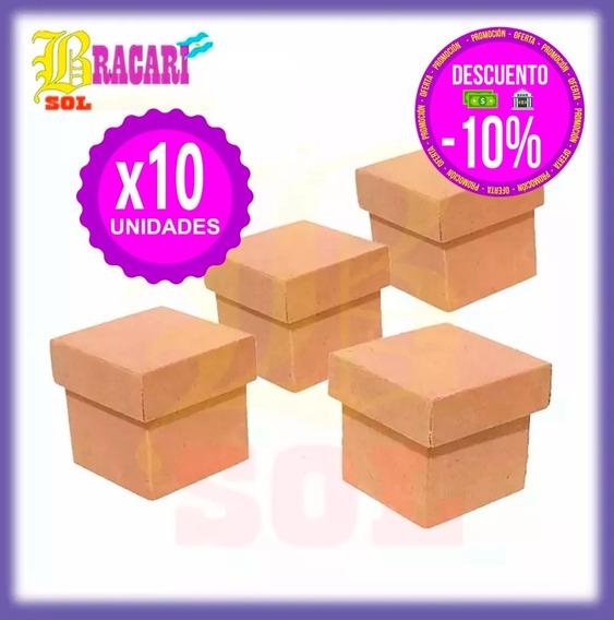Cajitas 6x6x6 10 Unidades Fibrofacil Souvenir Regalos