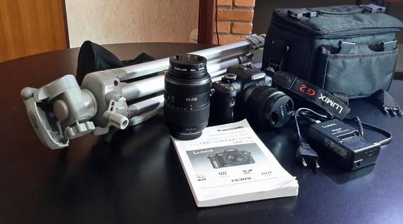 Câmera Panasonic Lumix G2, 2 Lentes/semi Nova/perfeito Estad