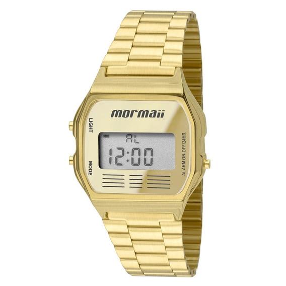 Relógio Mormaii Unissex Vintage Mojh02ab/4d Digital Dourado