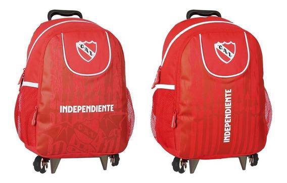 Mochila Carrito Futbol Independiente 15 Pulgadas Mmk Cgp3