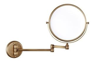 Espejo De Vanidad Pared 1x-3x Laton Antiguo - Cromado - Oro
