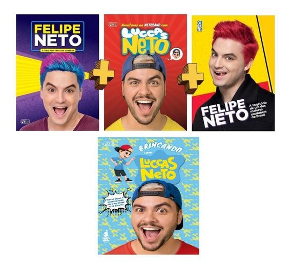 Kit Com 04 Livros Irmãos Felipe Neto E Luccas Neto
