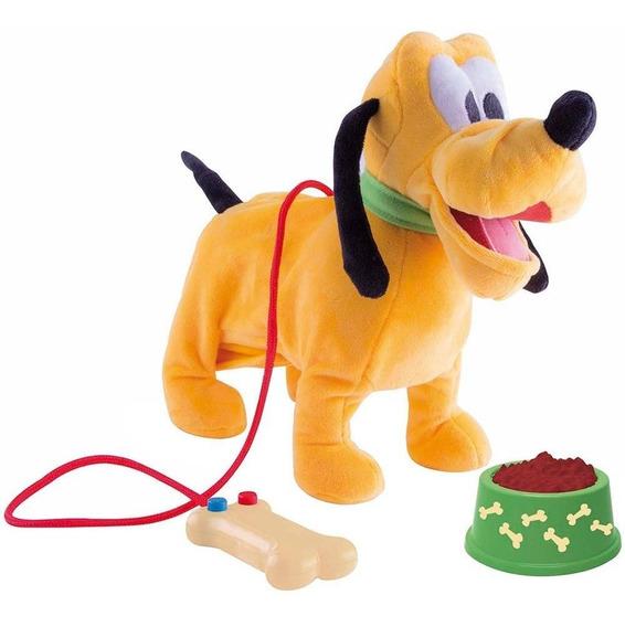 Pelúcia Disney Walking Pluto Com Mecanismo E Som Multikids