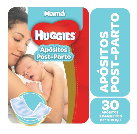 Apósitos Post Parto Huggies Mamá Pack X 3