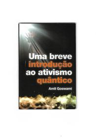 Uma Breve Introdução Ao Ativismo Quântico -amit Goswami S/cd
