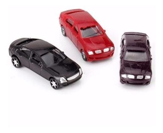 Carro Maquete Carrinho Automóvel Miniatura 10unid. 5cm 1/100