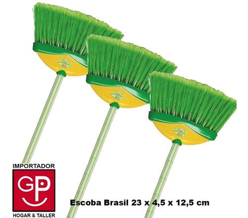 Escoba Brasil X 3 Piezas 23 X 4,5 X 12,5 Cm