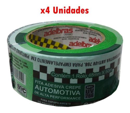 Cinta Papel Automotriz Anti Uv 48mmx50m X 4 Unidades G P