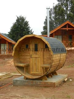 Sauna En Madera Modelo Barril Itata