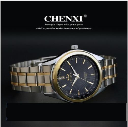 Relógio De Pulso Quartzo Chenxi Frete Grátis Aço Inoxidável