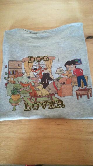 Remera Dog Lover Diseño Exclusivo Por Arteran