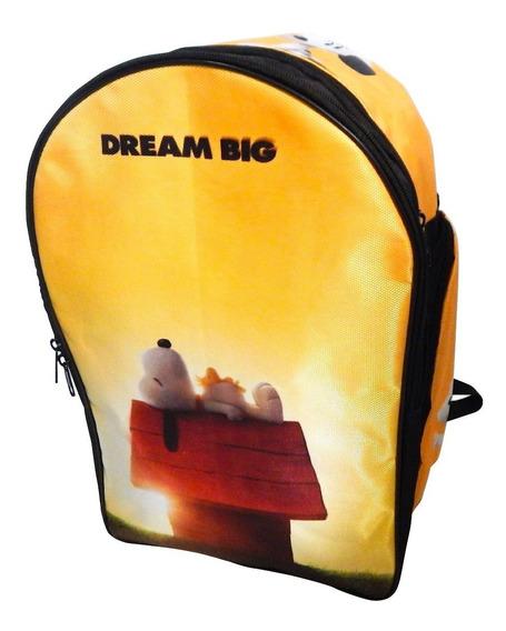 Snoopy Mochila Backpack Woodstock Dream Big Casita Perrito