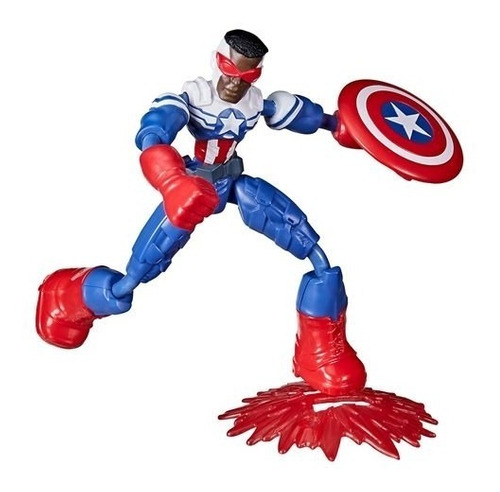 Imagem 1 de 1 de Boneco Marvel Avengers Bend And Flex Captain America Hasbro