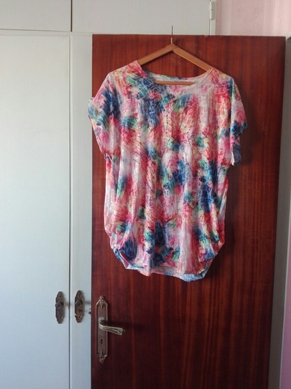 Camisola Pinceladas Multicolor Strass T.xxl No Envío Recolet