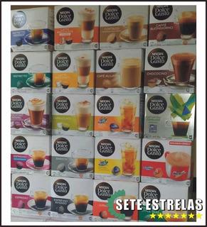 Kit 06 Caixas Nescafé Dolce Gusto Sabores Descrição